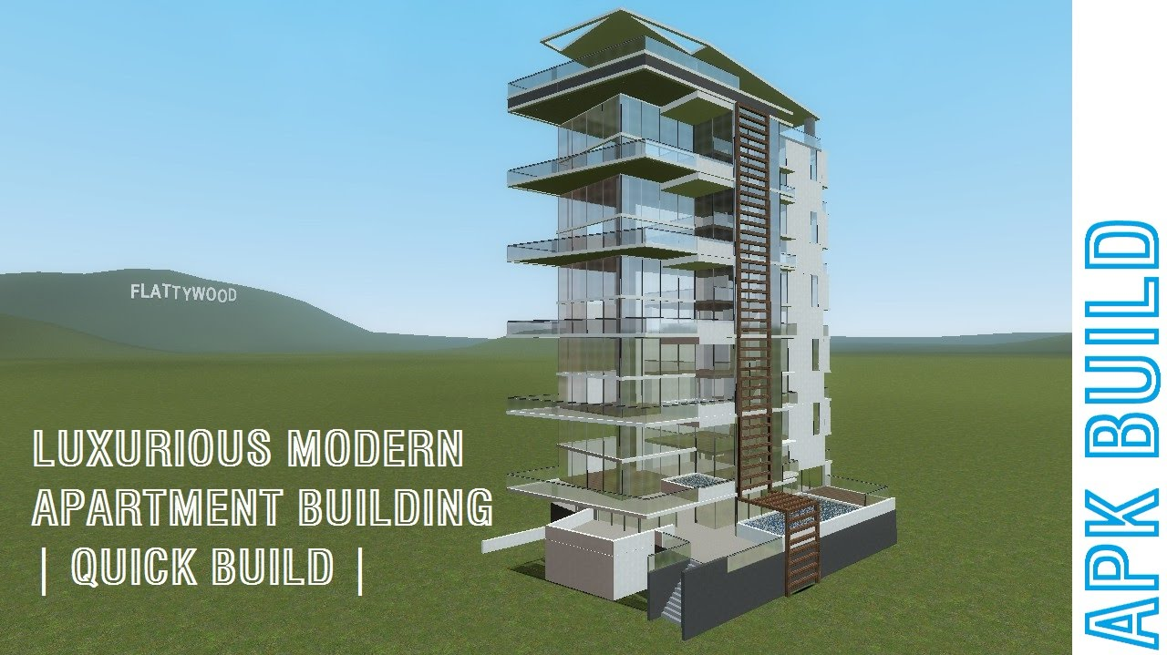 Modern Apartment Building gmod | luxurious modern apartment building | quick build | - youtube