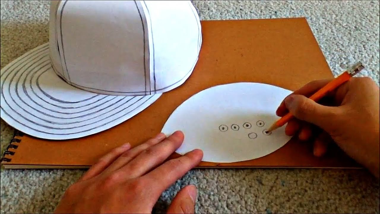 Tutorial On How To Make A Flat Brimmed Paper Hat New Era