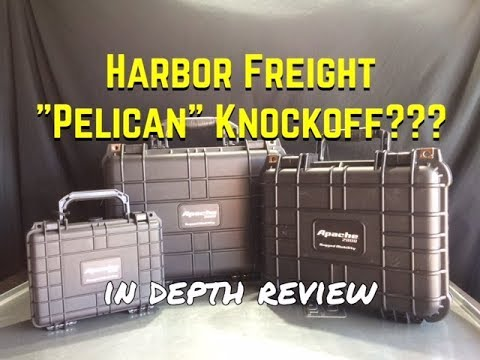 Harbor Freight Apache Case Review - Pelican Case Vs Apache Case - Imitation Pelican Knockoff