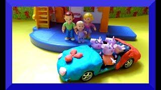 Nhà Búp Bê Baby Fisher Price- Gia đình Heo Peppa -Quà tặng trứng bất ngờ chuột Minnie