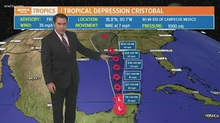 The latest forecast for Cristobal