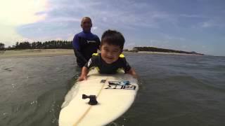Gabriel inicio no surf 1  GOPR0 14 06 2014 1