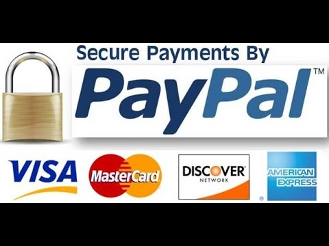 Secure payment with credit cards via paypal