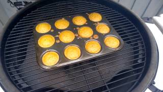 Baking Oatmeal Chocolate Chip Muffins On The Big Green Egg