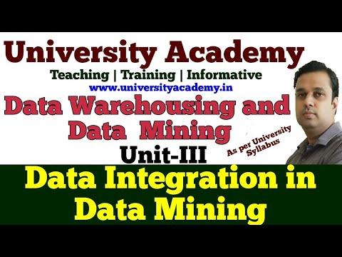DWM19: Data Integration And Transformation In Data Mining   Data Integration Algorithms