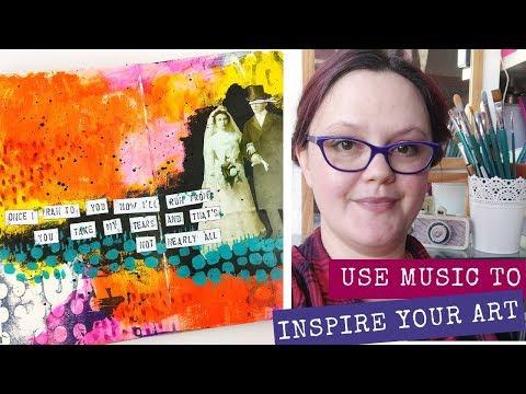 Music Inspiring Art | Art Journal Tutorial