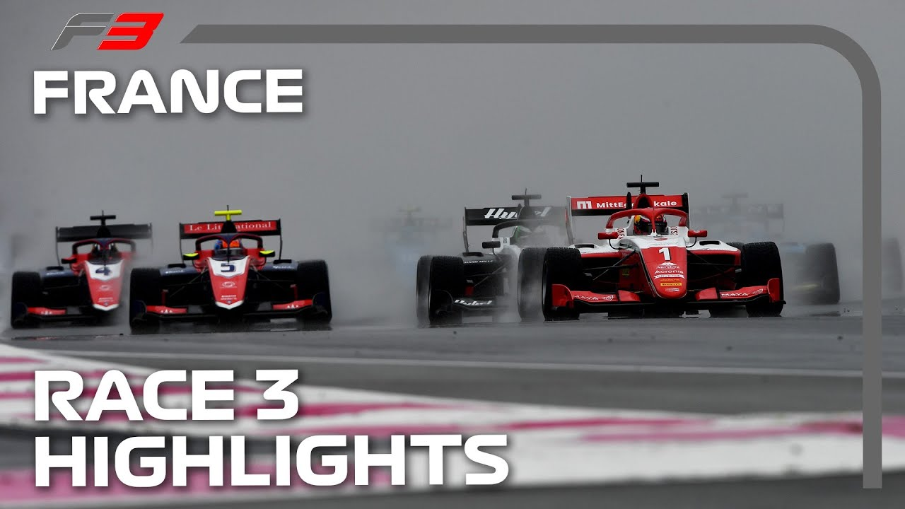 RACING IN THE RAIN! F3 Race 3 Highlights | 2021 French Grand Prix