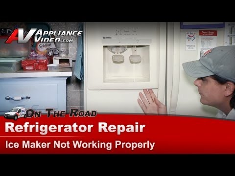 Refrigerator - Ice maker water dispenser not working-Repair - Kenmore - Whirlpool - Maytag - Sears