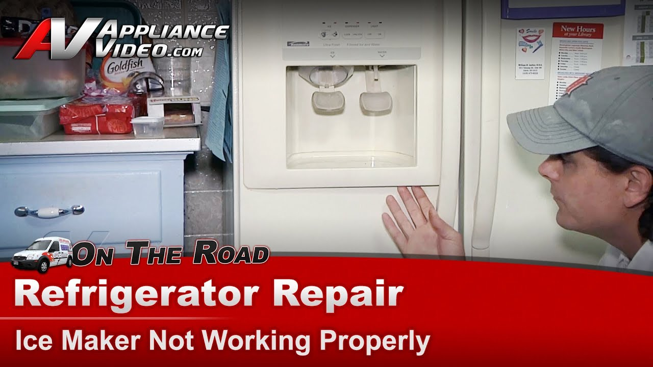medium resolution of refrigerator ice maker water dispenser not working repair kenmore whirlpool maytag sears youtube