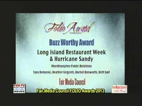 Fair Media Council's FOLIO AWARDS on VVH-TV