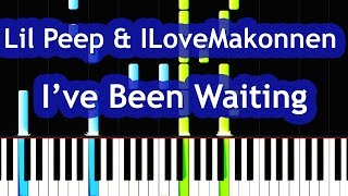 Lil Peep & ILoveMakonnen feat. Fall Out Boy - I've Been Waiting Piano Tutorial Video