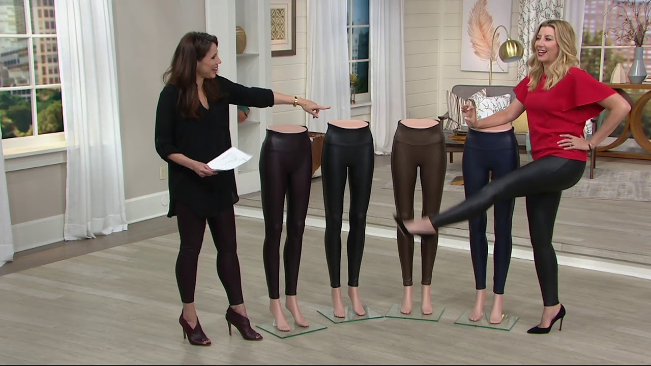 d27247b7dc1f5f Spanx Faux Leather Leggings on QVC - YouTube