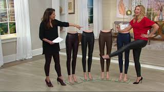 Spanx Faux Leather Leggings on QVC