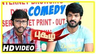 Pugazh Tamil Movie | Comedy Scenes | Jai | Surabhi | Karunas | RJ Balaji | Kavignar Piraisoodan