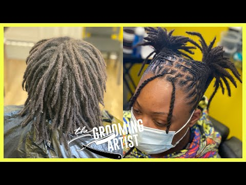 Two Ponytails & Bang Retwist & Style