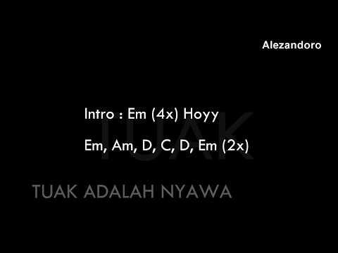 TUAK ADALAH NYAWA (CHORD & LIRIK)