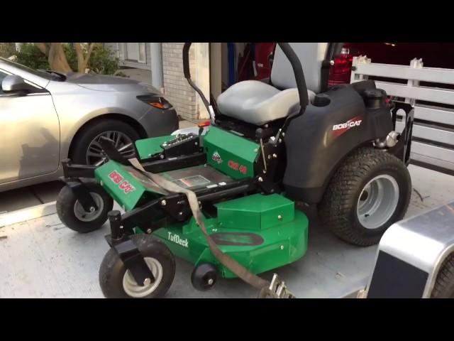 Riding Mower - Grass flap chute blocker homemade  Aluma 6810BT