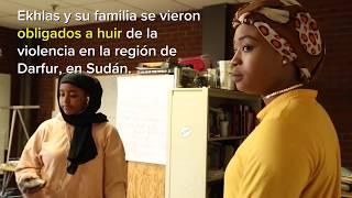 Refugiada sudanesa reasentada retribuye a su comunidad en los Estados Unidos