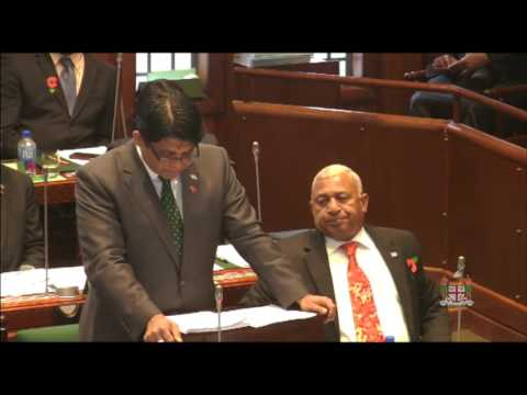 Fijian Minister of Finance presents 2016 Budget, Part 1