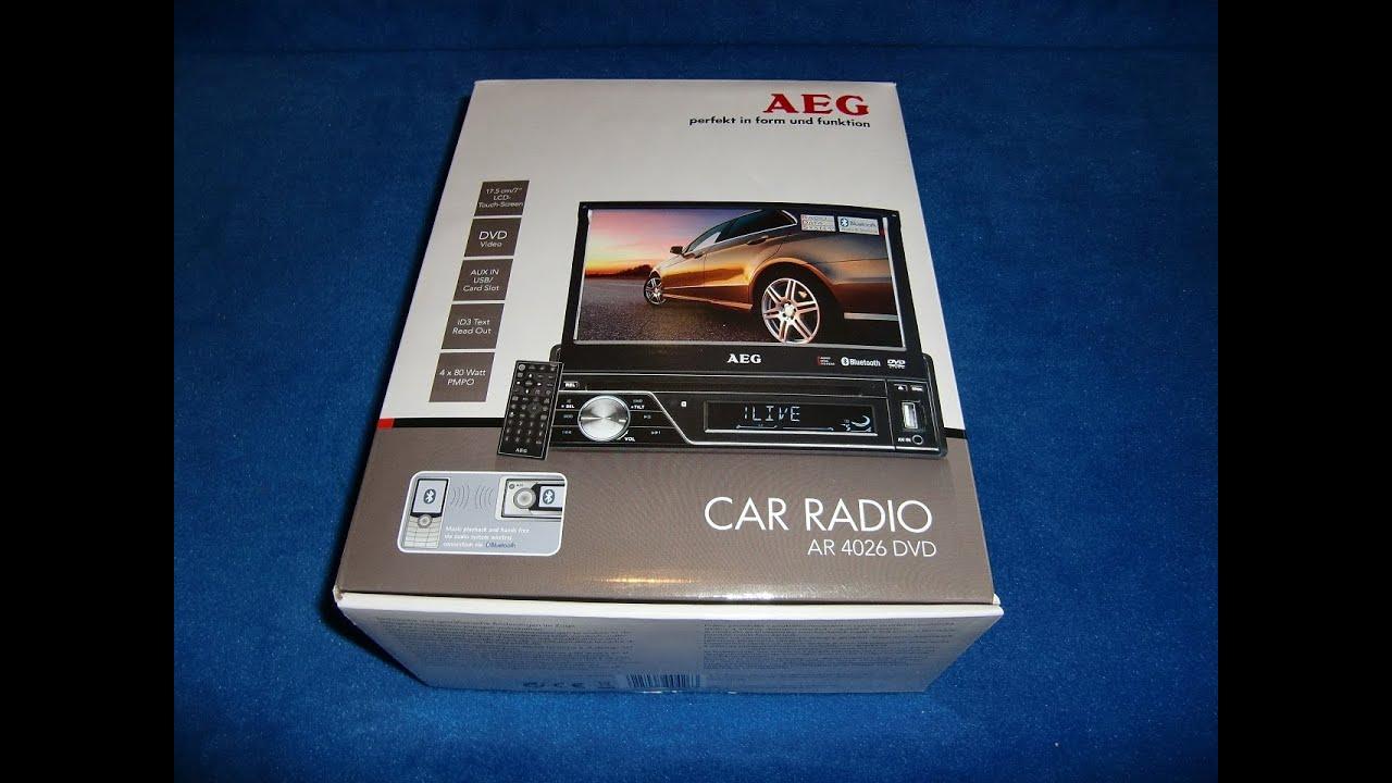 aeg ar 4026 dvd cd usb lcd moniceiver autoradio carradio. Black Bedroom Furniture Sets. Home Design Ideas