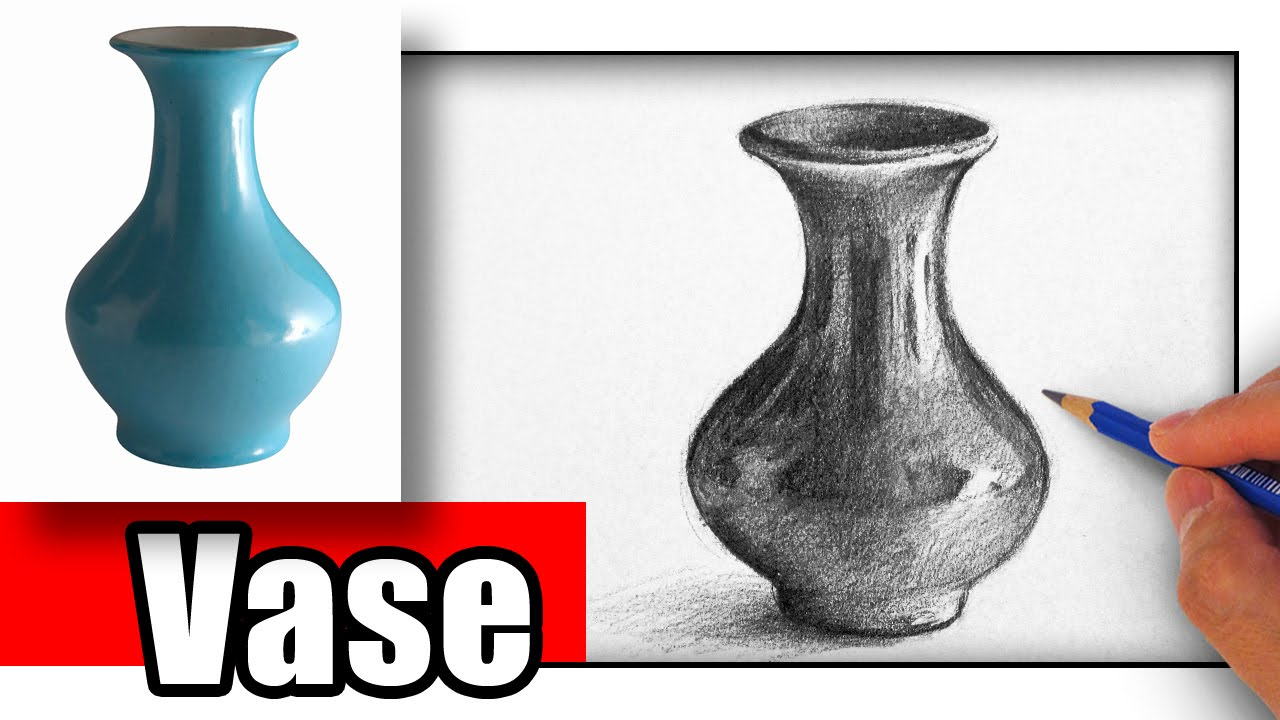 How To Draw A Vase With Pencil Youtube