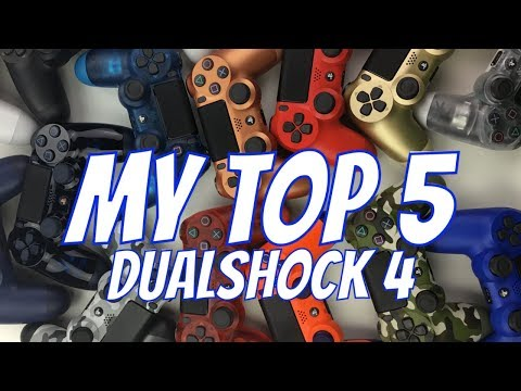 PS4  DUALSHOCK 4 COLLECTION SHOW OFF AND MY TOP 5