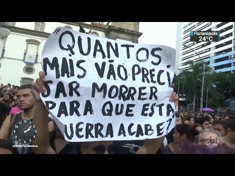 Assassinato de Marielle Franco provoca onda de protestos em todo o país | SBT Notícias (16/03/18)