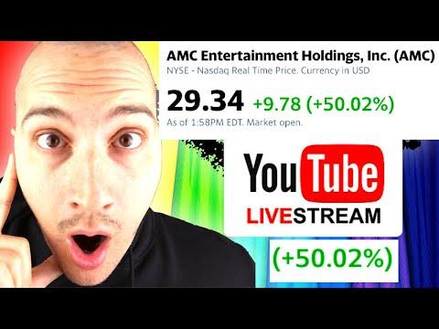 AMC STOCK PRICE GOES INSANE DURING JEREMY LIVESTREAM