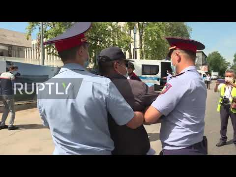 Kazakhstan: Police detain protesters at unauthorised rally i