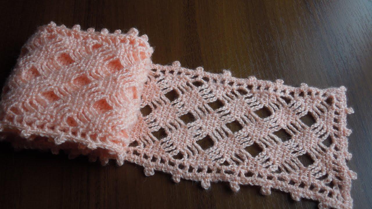 весенние шарфики крючком схемы