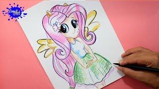 how to draw my little pony /Como dibujar a fluttershy my little pony / how to draw fluttershy mlp