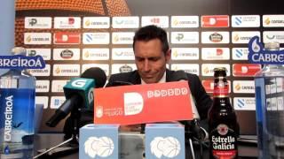 Video O coach do Cafés Candelas na rolda de prensa tralo partido contra Palma