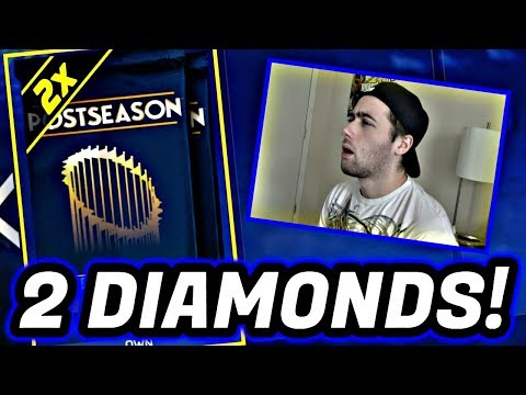 2 DIAMOND PLAYERS PULLED!! POSTSEASON PACK OPENING! MLB THE SHOW 17 DIAMOND DYNASTY