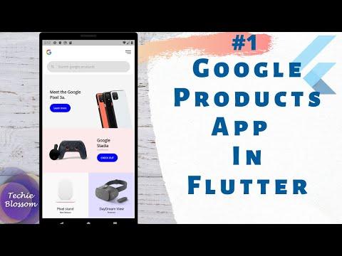 Google Products App Part 1   Flutter SDK