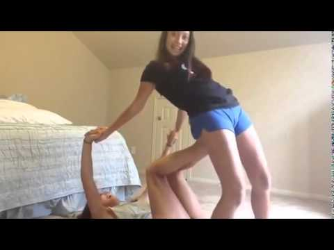 funny yoga challenge  two girls show poses  youtube