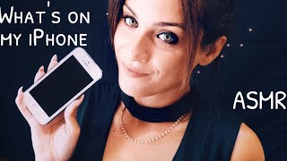 What's on my iPhone  ASMR Ita  | Intense Whispering Binaural | Tapping on Display | OryDream,
