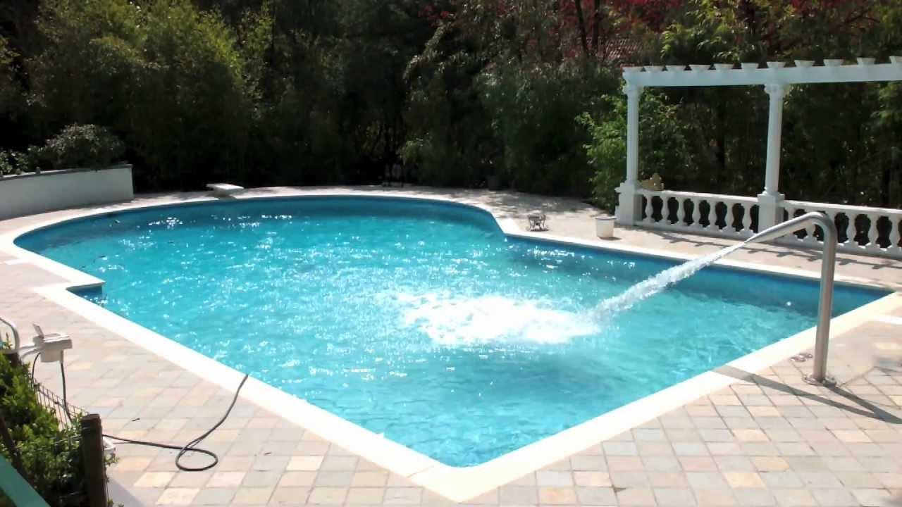 piscine en mosa ques r nov e equip e d 39 un canon eau hugo