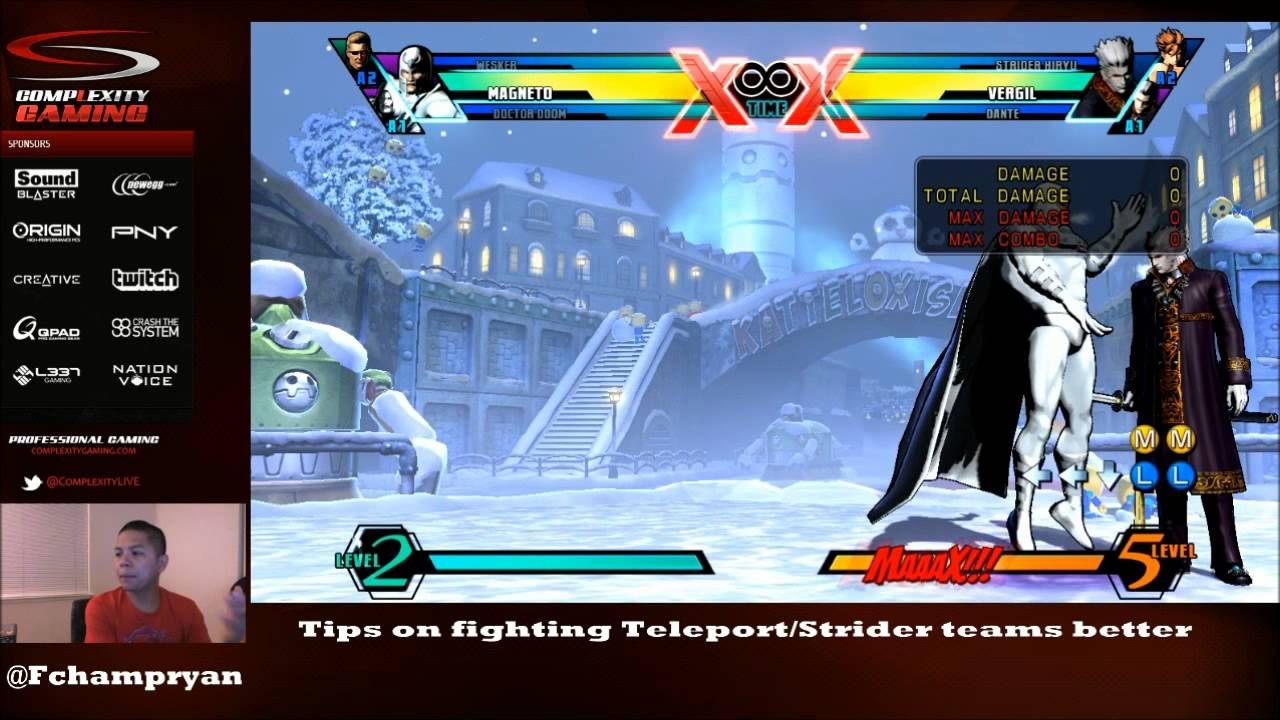 UMvC3 Tutorial - Filipino Champ - How To Fight Teleport/Strider Teams