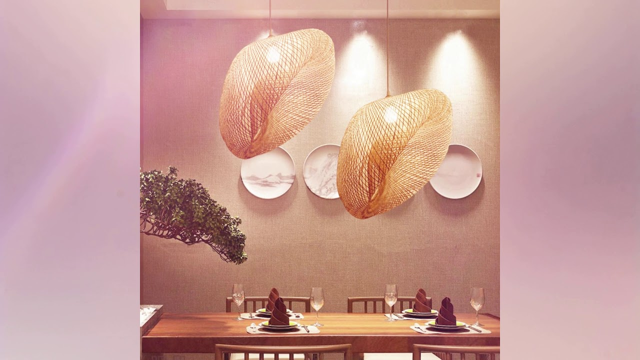 Maso Lighting April weekly product video show 02 Popular Natural Bamboo Pendant Lamp