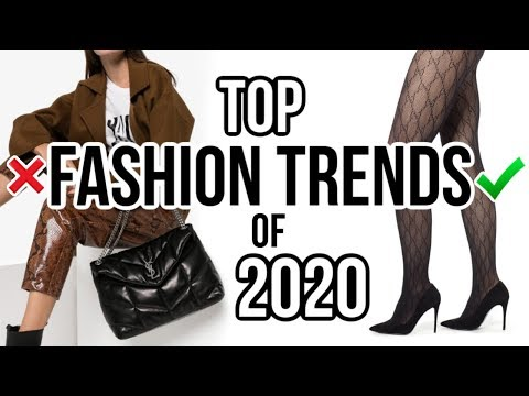Top 10 WEARABLE Fashion Trends of 2020!