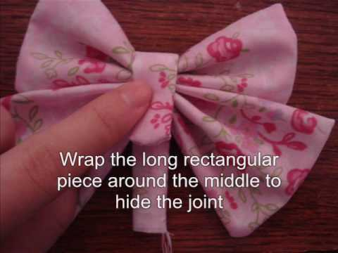 Women/'s french barrette clip with bow Instructions Video Tutorial Hair bow Sewing Pattern and Tutorial