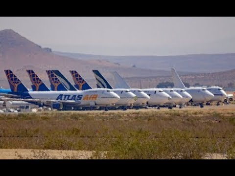 Mojave Desert Jetliners in Waiting