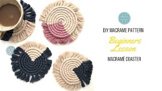 HOW TO: MACRAMÉ COASTER - Two Colour Circular Coasters tutorial full-length home decor project