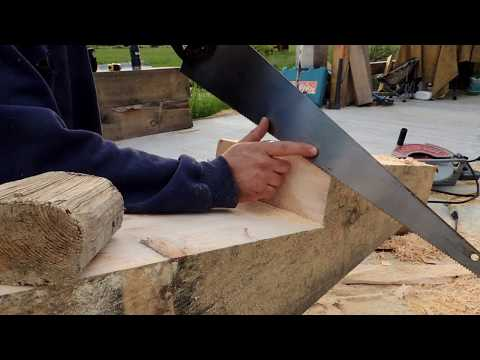 A Timber Frame Scarf Joint part 3: Cutting the joint