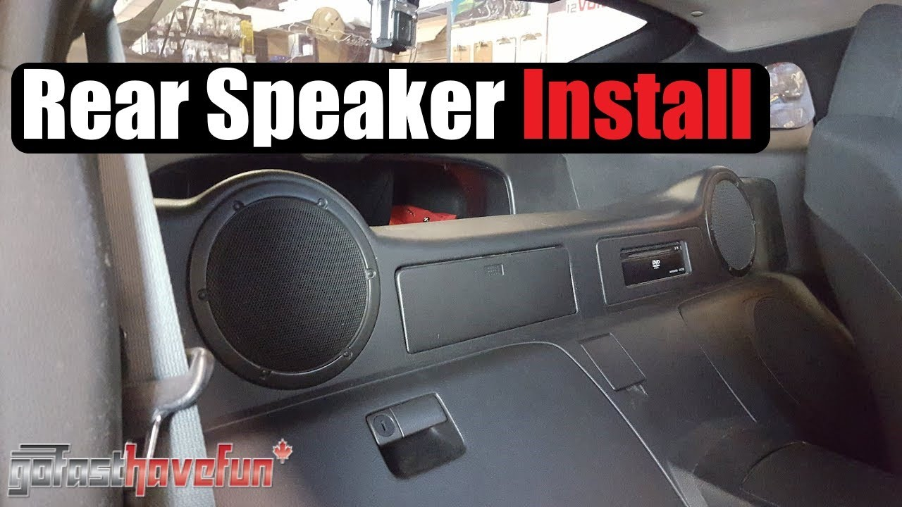 maxresdefault nissan 350z rear speaker install youtube Nissan Radio Wiring Diagram at bakdesigns.co