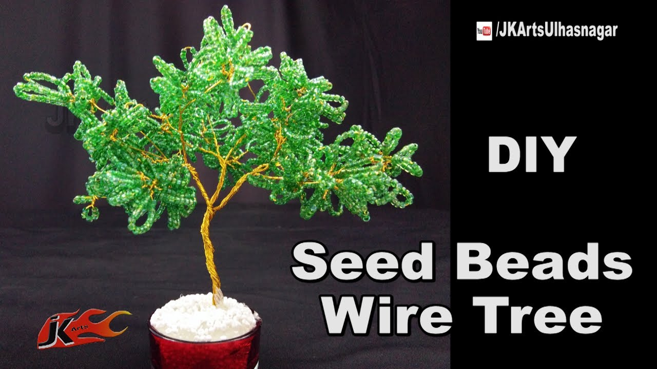 Diy Seed Beads Wire Tree Tutorial