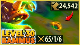 Rammus Q scales with Level... (LVL 30 BREAKS The game