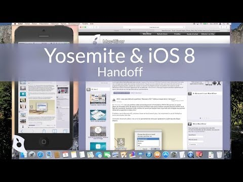 See Handoff on OS X Yosemite and iOS 8 in Action