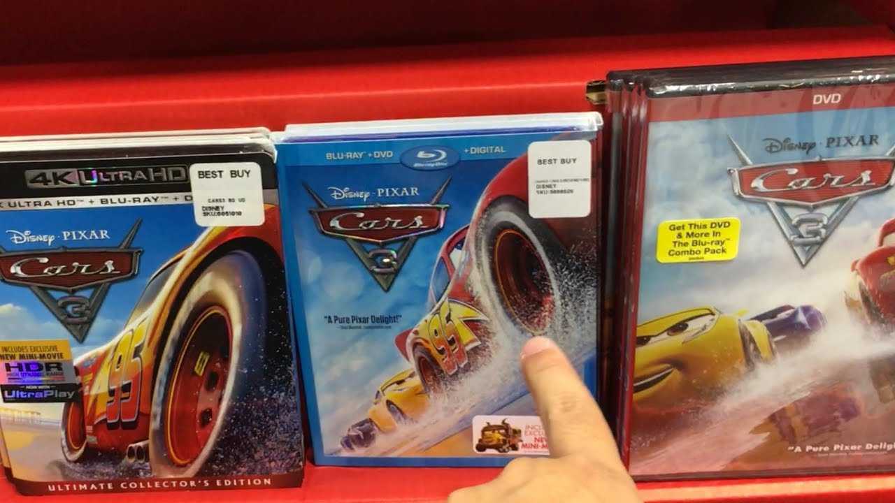 new cars 3 toy hunt for exclusive disney cars 3 dvd review. Black Bedroom Furniture Sets. Home Design Ideas