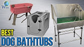 Create a dog bath with a Tarter Galvanized Steel Stock Tank - YouTube